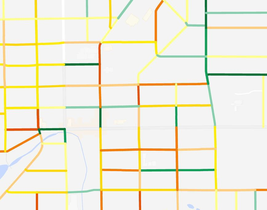 Thumbnail of Beaver Dam, Wisconsin pavement ratings in map form